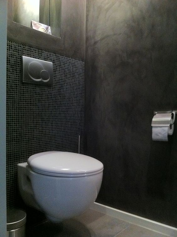 Deco toilets and met on pinterest for Deco tegel wc