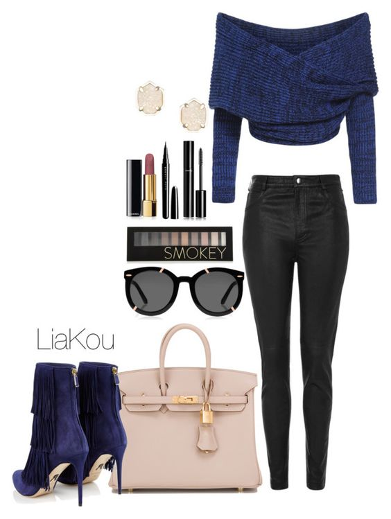 """""""Untitled 16."""" by liajkou ❤ liked on Polyvore featuring Topshop, Hermès, Paul Andrew, Karen Walker, Forever 21, Chanel, Marc Jacobs, Kendra Scott and dresscast"""