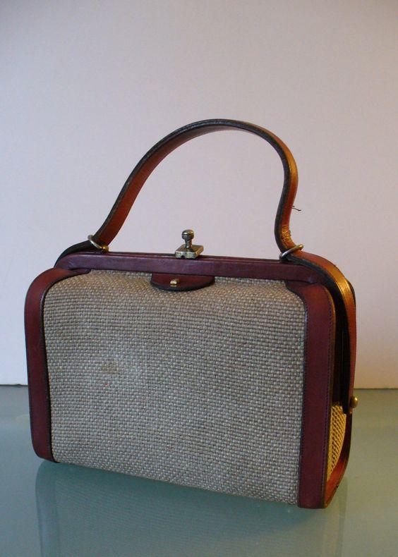 Vintage Etienne Aigner Doctor's Style Handbag by TheOldBagOnline on Etsy