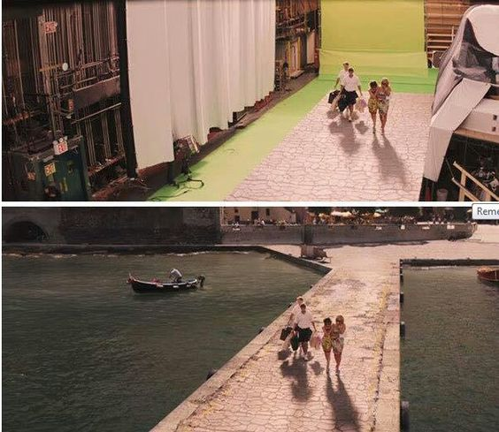Wolf of Wall Street before & after green screen