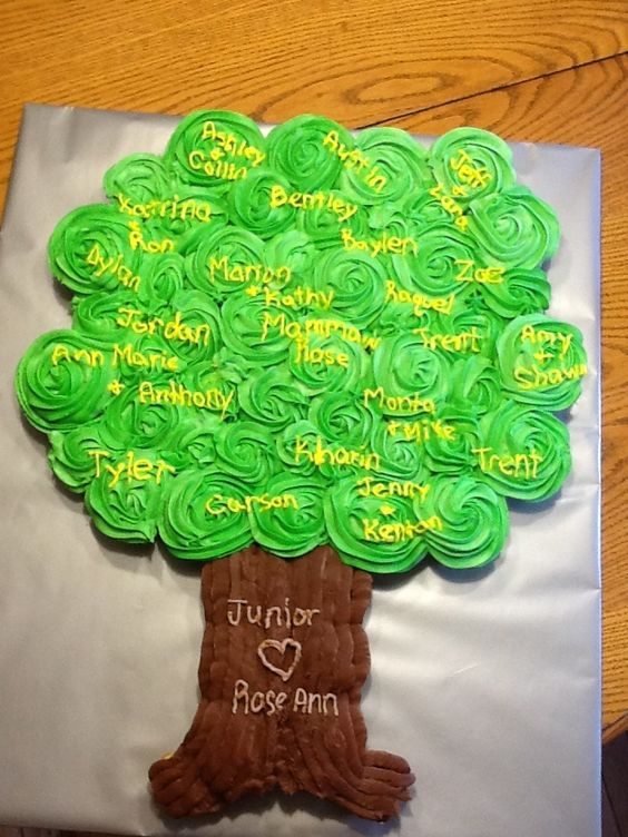 Our family cupcake tree made by Ashley.
