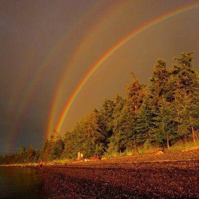 Quadruple Rainbow, Minnesota~!!!