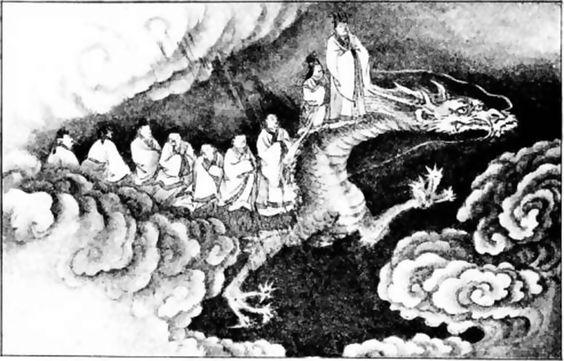 Se montó en el dragón.