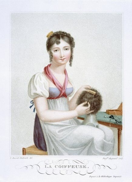 The hairdresser, c.1816 by Madame G. Busset-Dubruste: