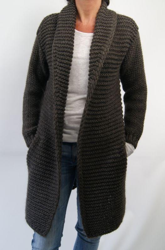 Hand Knitting Patterns For Women : Hand knit women s cardigan jacket