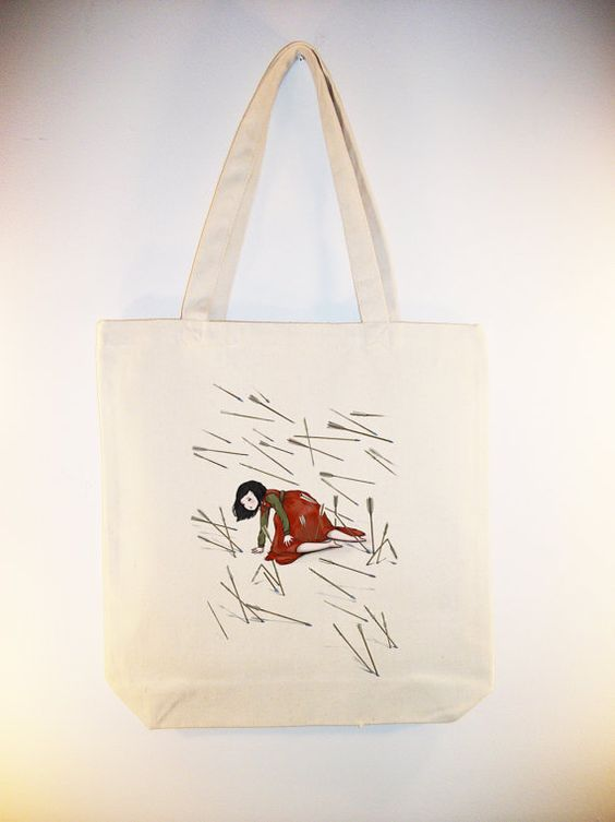 The Last Red Rose   ARTIST Hidden ELOISE on 15x15 Canvas Tote by Whimsybags, $14.00