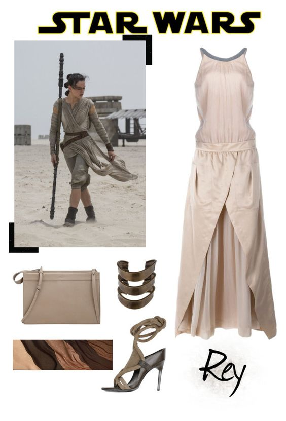 """Star Wars: The Force Awakens Rey"" by stephanie-visconti ❤ liked on Polyvore featuring 3.1 Phillip Lim, Hourglass Cosmetics, Brunello Cucinelli, Elizabeth and James, starwars and contestentry"
