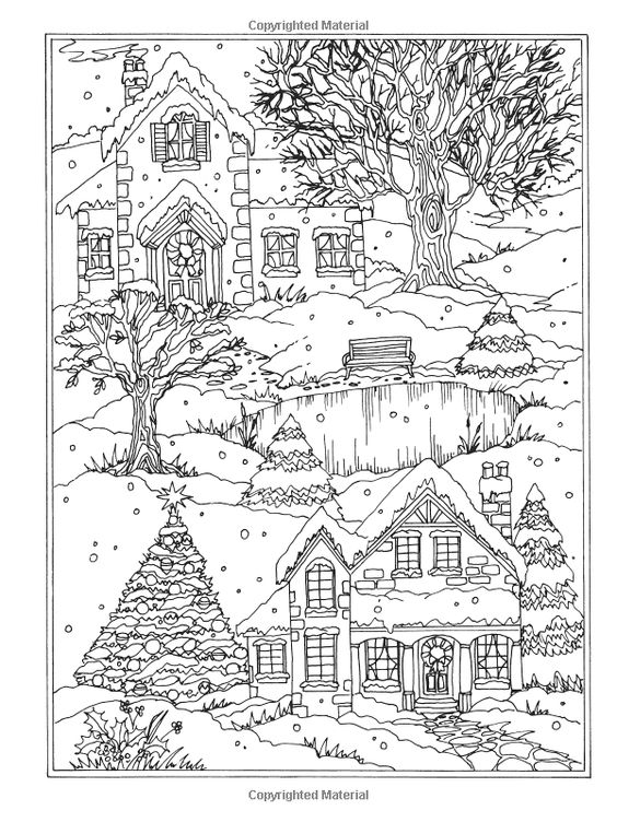 winter coloring pages adults 28 images town in winter by