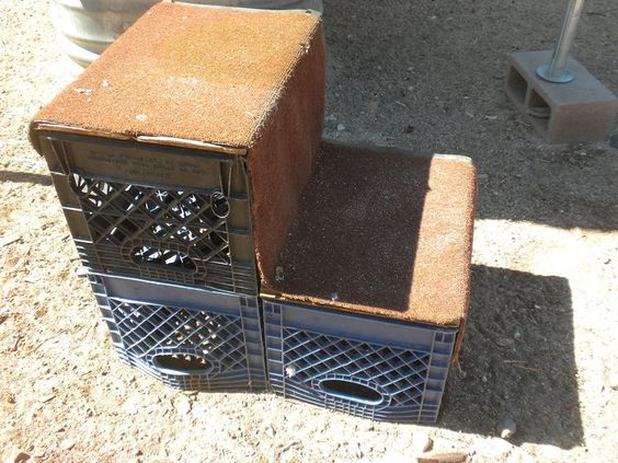 Milk Crate Mounting Block Great Idea Can Secure With