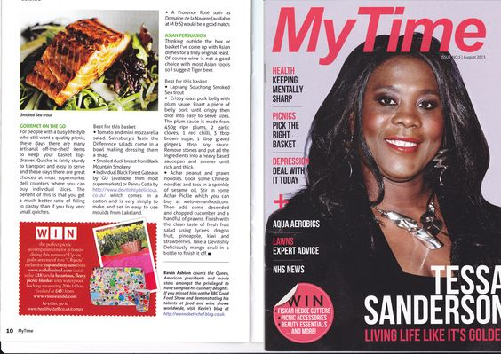 2 page article I wrote about perfect picnics in My Time magazine. #2013 #mytime #magazine #chefkevinashton #picnics