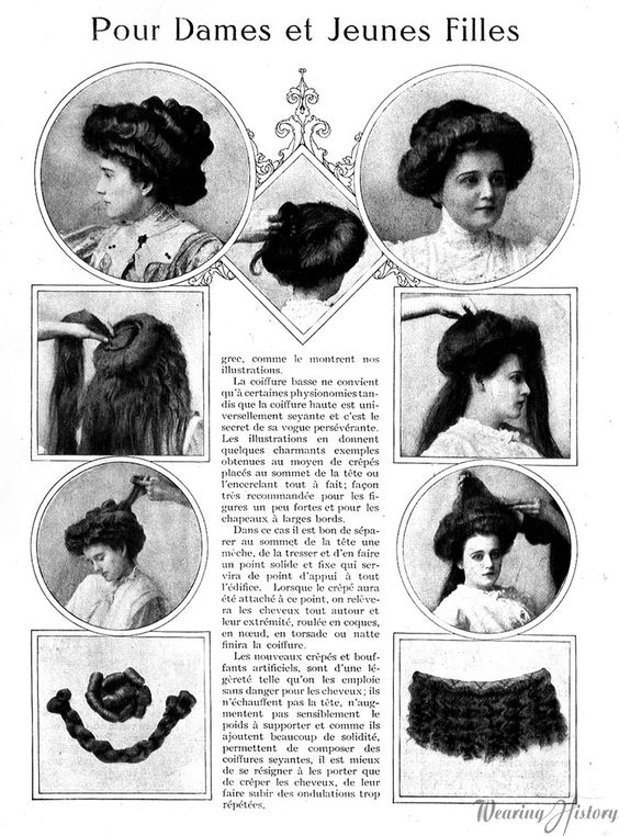 Wearing History Blog | French Gibson Girl Hairstyles, 1908 | Mirror Des Modes, May 1908: