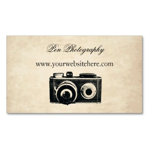 Vintage Camera Business Card. Make your own business card with this great design. All you need is to add your info to this template. Click the image to try it out!