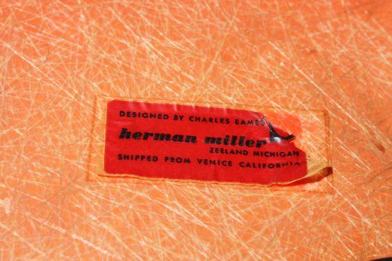 Exhilarating Early Eames Salmon RAR Rocker for Herman Miller (U.S.A., 1950's) | by Kennyk@k2modern.com