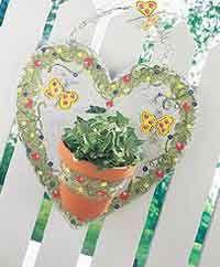 Tin Flower Pot Hanger