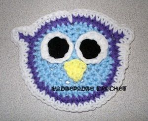 Owl Applique - Free by Tanya Naser of Hodge Podge Crochet  Owls Part 3 - Animal Crochet Pattern Round Up - Rebeckah's Treasures
