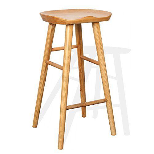 Zfusshop Bar Chair Solid Wood Continental Front Bar Chair Bar