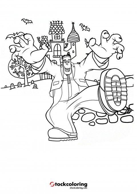 Frankenstein Coloring Page Halloweenkidscoloringpages