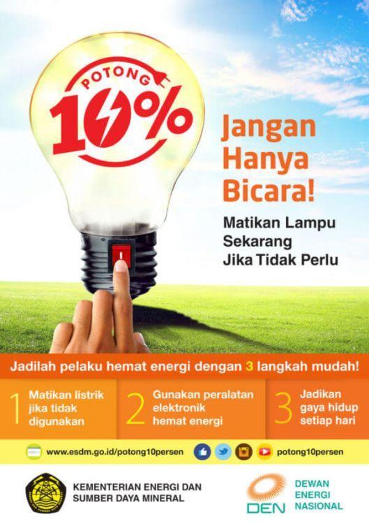Contoh Poster Hemat Energi Alam Energi