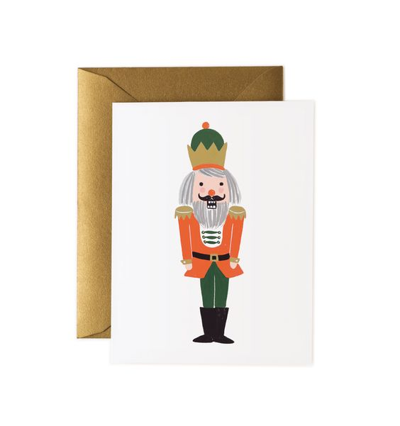 Nutcracker Available as a Single Folded Card or a boxed Set of 8