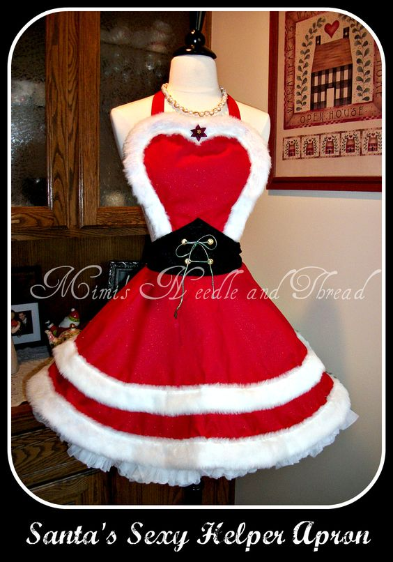 sexy apron for christmas made by mimi 39 s needle and thread. Black Bedroom Furniture Sets. Home Design Ideas