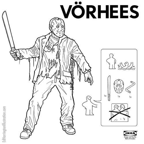 Personajes de terror comprados en Ikea