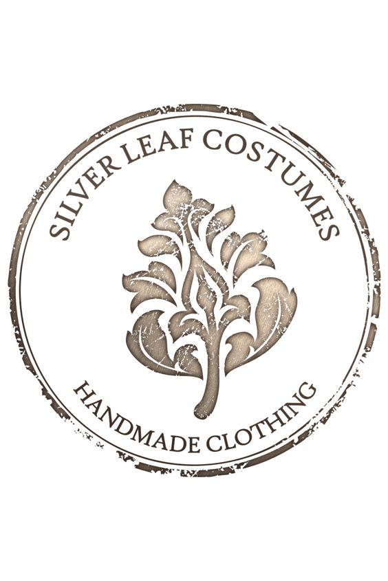 silver leaf handmade clothing vintage logo