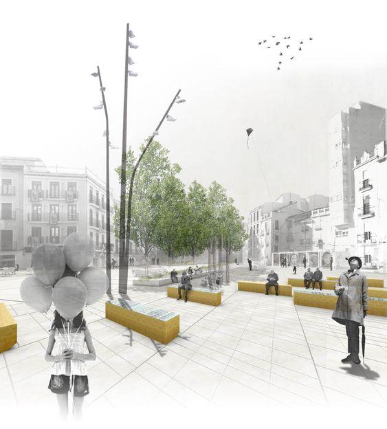 Remodelación Plaza del Raval de Sant Josep, Font Mestre | Arquitectura Beta