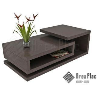 Mesa ratona rectangular wengue mueble dise o minimalista - Mesa salon diseno ...