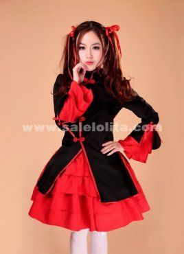 Fashion Women's Sweet and cute red and black sexy maid dress uniforms role-playing game 2014