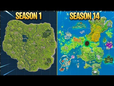 Evolution Of Fortnite Map Chapter 1 Season 1 Chapter 2 Season 4 Youtube Seasons Fortnite Season 1 We've got all of the outfits and characters in high quality from all of the previous seasons and from the history of the item. fortnite map chapter 1 season 1