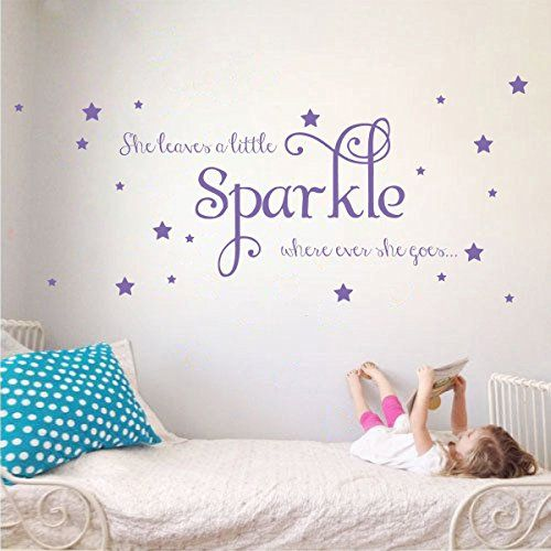 She Leaves a Little Sparkle Girls Room Vinyl Wall Decal S...
