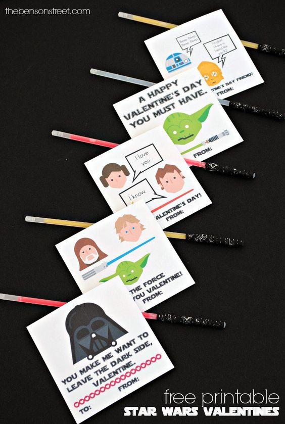 Star Wars Valentines Printables | Homemade Valentines | Valentine's Day | thebensonstreet.com