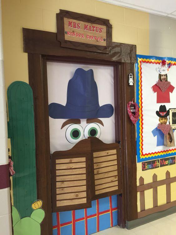 Western Classroom Door