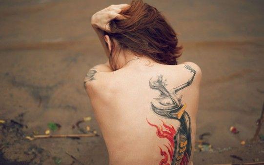 Girl Backless Beautiful Tattoo Wallpaper Freshwidewallpapers Com
