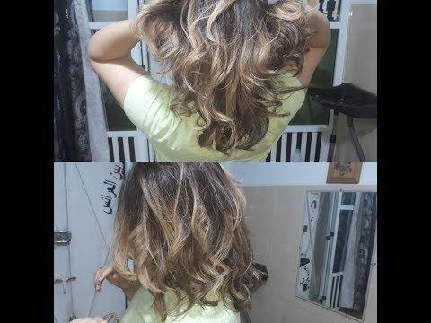طريقة صبغ الشعر من بني غامق إلى أشقر طبيعي Ombre Balayage Technique Youtube Hair Styles Long Hair Styles Hair