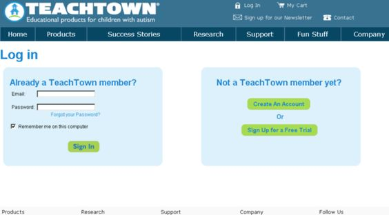 teachtown.com - TeachTown - Login - Teach Town