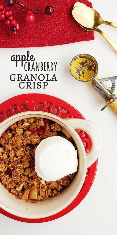 easy Apple Cranberry Granola Crisp! Using /quaker/ Simply Granola ...