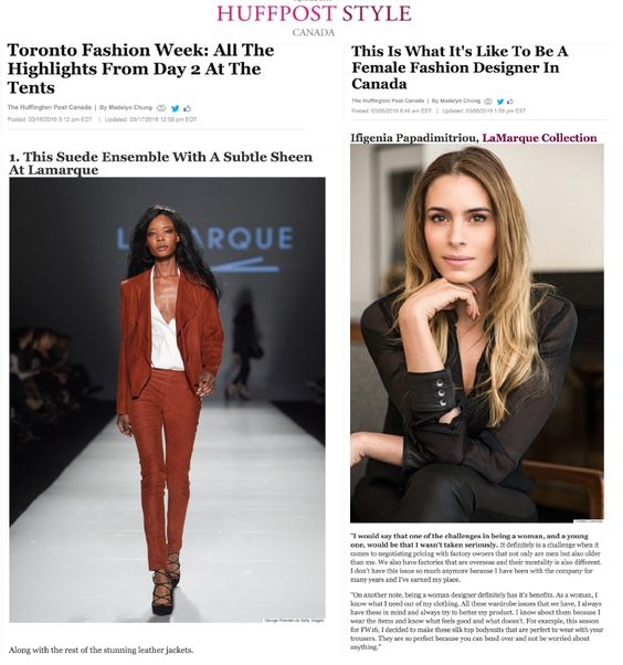 Our Very Own Fashion Designer Featured In Huffington Post Fashion Toronto Fashion Week Fashion Design