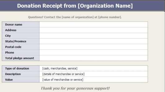 5 Charitable Donation Receipt Templates Free Sample Templates Receipt Template Charitable Donations Templates