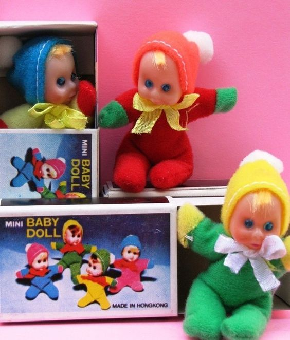 Mini Baby Dolls in a matchbox (le sigh): 80S, Childhood Memories, Blast, 70S, Baby Dolls, Childhood Toys, Matchbox Doll