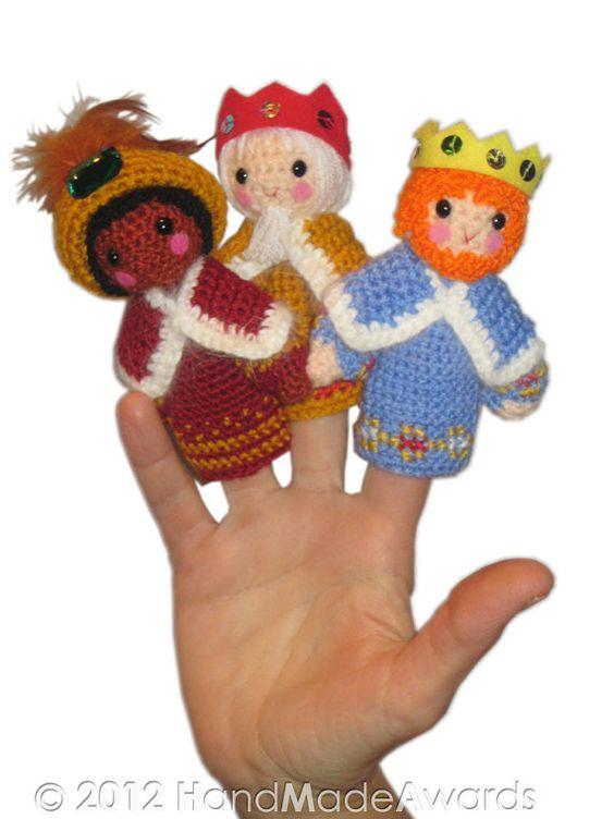 Chistmas Natividad dedo Títeres Pdf correo electrónico Crochet ...