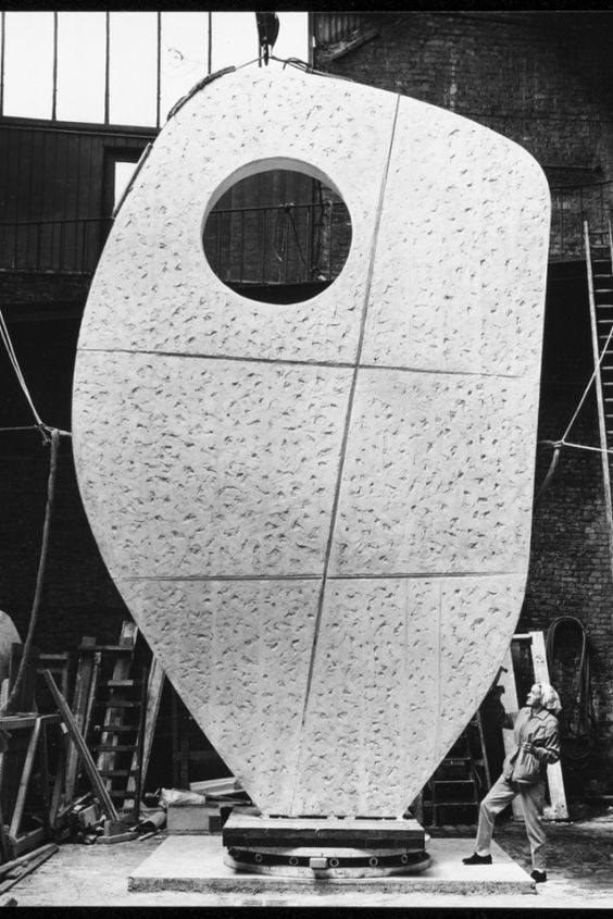Barbara Hepworth with Single Form: