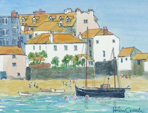 St. Ives, Cornwall, Watercolour & Ink Original from Katy Harvey