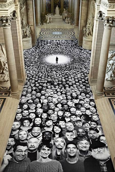 Installation Art...JR Installation, Pantheon, Paris: