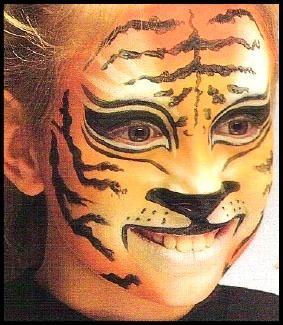 Maquillaje paso a paso de tigre ni os maquillaje - Pinturas de cara para ninos ...