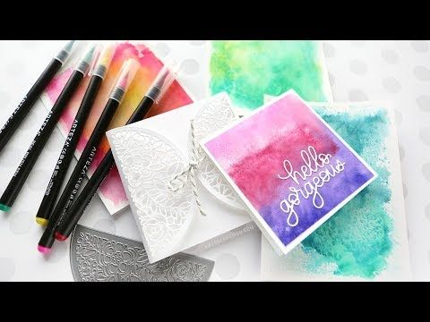 Easy Watercolor Backgrounds With Watercolor Markers Watercolor