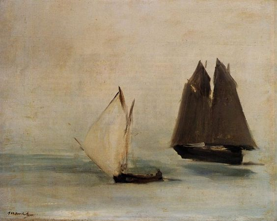 Seascape by Edouard Manet #art