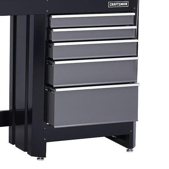 Craftsman 10139 5 Drawer Workbench Module Black Platinum Workbench Drawers Portable Workbench
