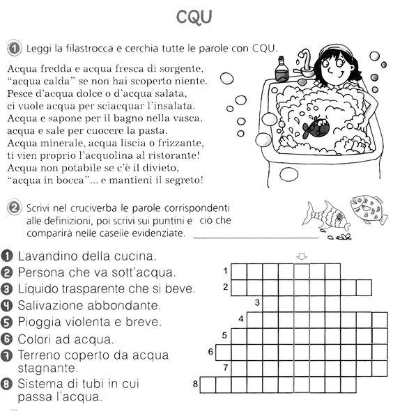Pin di valentina lamperti su lingua italiana pinterest for Parole con scu per bambini