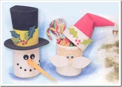 Navidad on pinterest - Manualidades con rollos de papel higienico para navidad ...